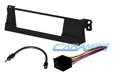 2002-2006 E46 3-SERIES CAR STEREO RADIO DASH INSTALLATION KIT W/ WIRING HARNESS