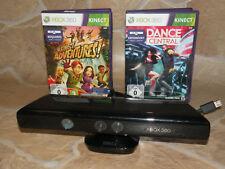 Dance Central + kinect adventures + Kinect sensor para Xbox 360 Kinect