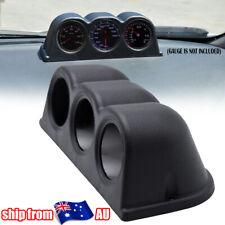"52mm 2"" Universal Gauge Pod Holder Triple 3 Hole Meter Cup ABS Racing Truck Car"