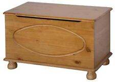 Wood Dovedale Blanket Box - Ottoman - Storage Chest - Solid Pine - DD540