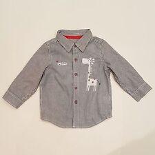 Pumpk*n P*tch Boys Grey Stripe Giraffe Shirt Size 3-6M/ 6-12M/12-18M