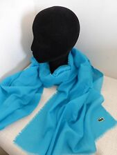 BNWT Lacoste Turquoise Lightweight Cotton Scarf - Unisex