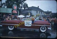 Portland Oregon Governor Paul Patterson 1950s 35mm Slide Kodachrome Car Signs