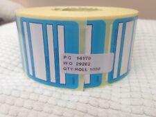 1000 x Nourriture réfrigérateur ou congélateur étiquettes, Roll, bleu, 45X45MM, auto adhésif U6227