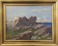 Impressionist Alfred Gregers Rasmussen 1904-1994 Sonniger Tag am Meer Ostsee