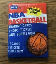 1986 Fleer NBA Basketball Unopened Wax Pack - Dominique Wilkins Sticker on back