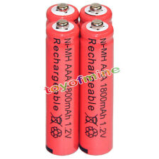 4x AAA battery batteries Bulk Nickel Hydride Rechargeable NI-MH 1800mAh 1.2V Re