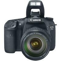 New Canon EOS 7D 18.0 MP Digital SLR Camera Black EF-S IS USM 28-135mm Lens Kit
