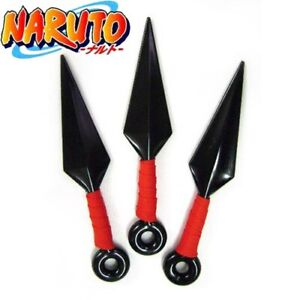 Anime Naruto Set of 3pcs Ninja Weapons Kunai Cosplay Prop Costume Accessory Toy