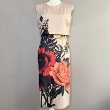 Just Cavalli Sheath Dress Stretch Floral Made in Italy Size Large NWT