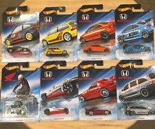 Hot Wheels HONDA 70th Anniversary Set 8 Cars NEW Civic, CR-X, Odyssey