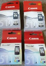 Canon PG-510 & CL-511 Genuino Cartuchos de tinta para impresoras PIXMA Paquete de 4