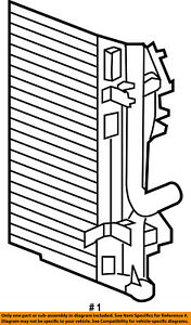 CHRYSLER OEM Air Conditioner A/C AC-Condenser 68050127AB
