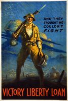 And they thought we couldn't fight World War 1 Giclee Art Poster Repro 24x36