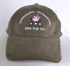 *CONGRESSIONAL COLLABORATION? - WHEN PIGS FLY!* Fitted Stretch fit Ball cap hat