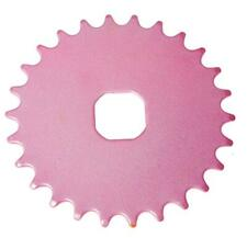 26T TEETH SPROCKET for ONE PIECE CRANK Bike/Bicycle PINK (Square) NEW