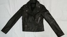 NEW LINEA PELLE COLLECTION ELEGANT LEATHER MOTO JACKET SIZE SMALL