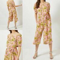 NEW RRP £28 Ex Dorothy Perkins Pink Floral Print Jumpsuit