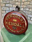 Vintage 1920's Penzbest Kendall Motor Oil 5 Gallon Rocker Can gas station rare