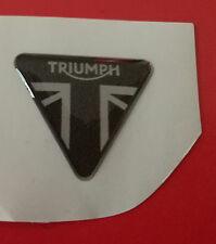 1 Adesivo Resinato Sticker 3D TRIUMPH bandiera inglese argento 3 cm