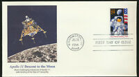 #2841 Moon Landing 25th Anniv Fleetwood FDC Honors Apollo 11 Descent to the Moon