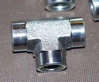 "NEW Eaton Aeroquip 2090-4-4s Steel Pipe Fitting, Tee, 1/4"" Npt Female"