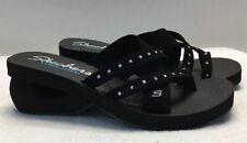 Skechers Cyclers Sea Jewel Black Sandals Women's Size 11 (38362)