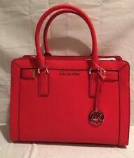 Michael Kors Leather Dillion Top-Zip Medium Bag Dark Sangria