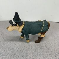 2002 Cows On Parade Wizard Of Oz Scarecrow Cow Resin Figure Statue