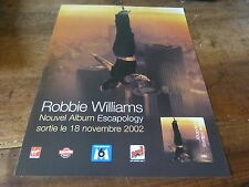 ROBBIE WILLIAMS - ESCAPOLOGY!!!!!!!!FRENCH PRESS ADVERT