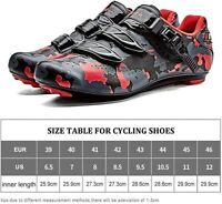 Santic Cycling Shoes Road Bike Shoes Spin Shoes with Buckle, Red-a, Size 10.5 oM