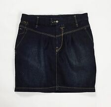 Tommy Hilfiger Denim virginia mini gonna skirt jeans blu denim S usata T727