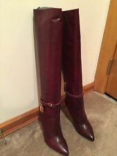 Authentic Beautiful Bordeaux/ Red Tom Ford Padlock Boots 37 Ask About LAYAWAY