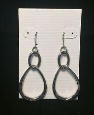 STAINLESS STEEL TEARDROP DANGLE EARRINGS - BRAND NEW!