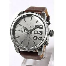 Diesel DZ4210 New Original * 2 3 4 Gunmetal Chronograph - Leather * Men's Watch