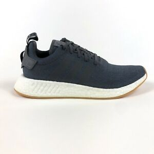 Adidas NMD R2 Originals Boost Grey Five Black Mens 13 Low Shoes Sneakers CQ2400
