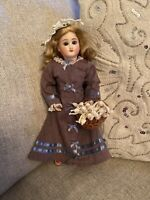 "Rare 10"" Antique Bisque Head Belton Sonneberg Doll On Seeley Body Fashion Doll"