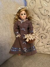 """Rare 10"""" Antique Bisque Head Belton Sonneberg Doll On Seeley Body Fashion Doll"""