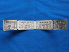 Vintage 35 Cent Concord Theatre Tickets (Strip of 4) Drive-In Movie/Cinema - NH