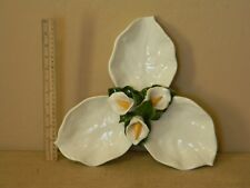 3-D Lilly Serving Platter  3 Compartment  Made in Italy