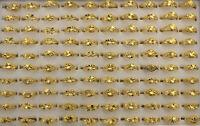 60Stk.vergoldet Schmuck Großhandel gemischt Design Legierung einstellbar Ringe