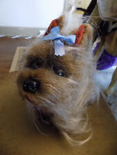 Rare Vtg Pussy Cat Toy Co Long Haired Yorkshire Terrier Dog Stuffed Plush Japan