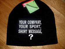 PERSONALISED MENS BEANIE HATS: COMPANY NAME, TEAM, SHORT MESSAGE *EMBROIDERED*