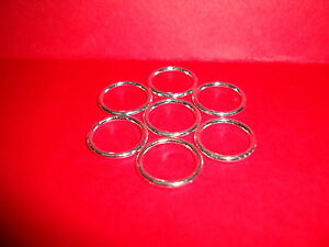 50pcs 16mm x 2mm silver plated SOLDERED CLOSED jump rings SP jewellery findings