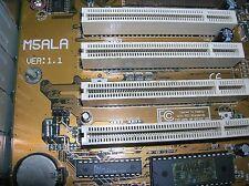 SAK350D BIOSTAR M5ALA Industrial Motherboard CTX K6-2/350mhz 2 ISA Slots CNC DOS