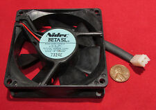 NIDEC Beta SL Server Cooling Fan - 12V, 0.13A, 35 CFM, 80mm D08T-12PHR 12PH R