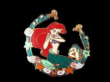 Disney Little Mermaid - Princess Ariel Coral & Shell Border with Flounder Pin