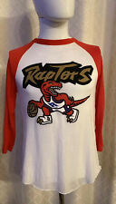 Mitchell And Ness Toronto Raptors NBA Baseball Style 3 Quarter Sleeve Tshirt