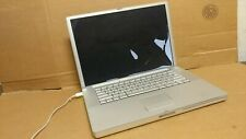 Apple PowerBook G4 Laptop For parts or Repair Motherboard Boots to Bios  A1095