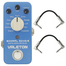 Valeton Cdl-3 Coral Echo - 11 Digital Delays Guitar Pedal with 2 patch cables
